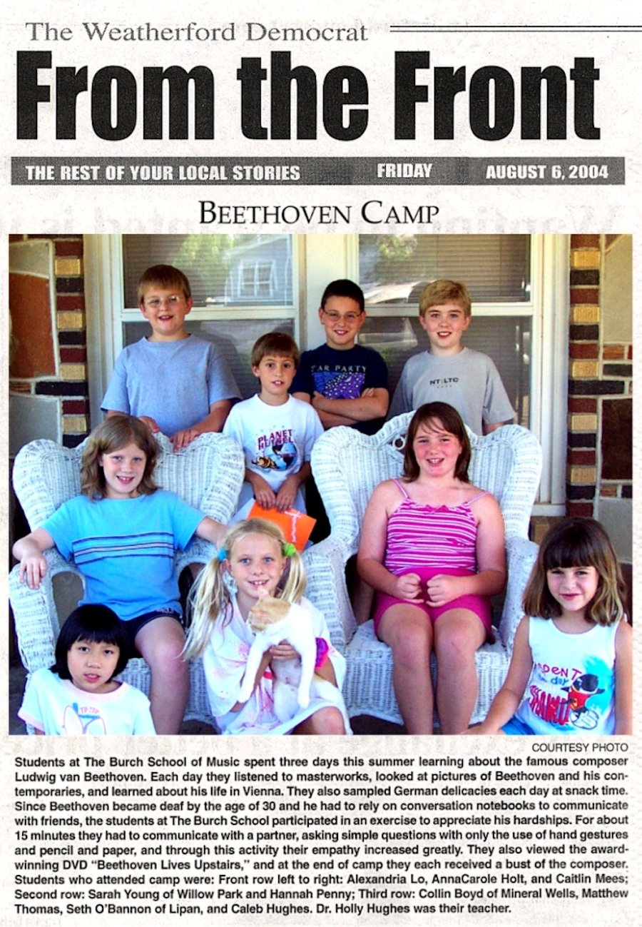 Beethoven Camp   August 6, 2004