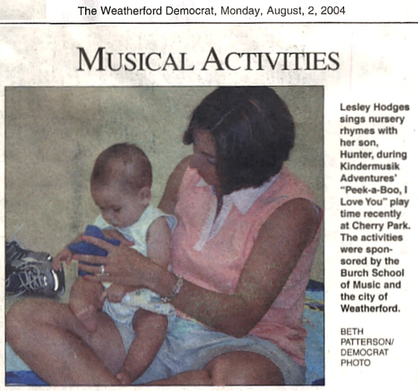 Musical Activities    August 2, 2004